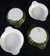 Hall China - FOREST GREEN - #434 Baking Dish - set of 4 - Au Gratin - Casserole