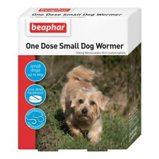 BEAPHAR ONE DOSE WORMER DOG TREATMENT WORMING TABLETS SMALL MEDIUM LARGE DOGS
