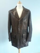 Mens EMPORIO ARMANI Buttoned LEATHER Jacket  Ref: 1142