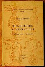 Grierson, Ph. Bibliographie numismatique 1966 Livre de référence monnaies
