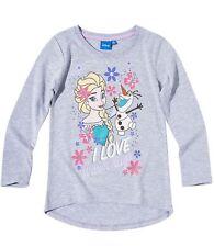 KINDER LANGARMSHIRT T-Shirt Mädchen Eiskönigin Mascha Princess  Gr. 92-140 NEU