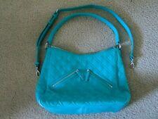 NWOT Vera Bradley Vivian Hobo Shoulder Bag in Turquoise Sea Microfiber Purse