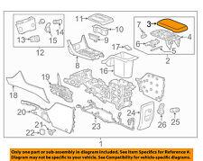 Gm Oem Center Console-Armrest Lid Cover Top 23116531