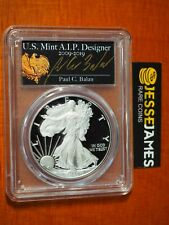 2020 W PROOF SILVER EAGLE PCGS PR70 DCAM FIRST DAY OF ISSUE PAUL C. BALAN SIGNED
