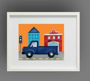 Things That Go Transportation Wall Art Print In Pottery Barn Kids Frame