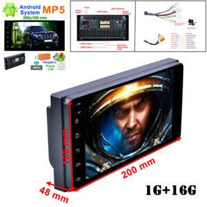 "7"" 2DIN HD Touch Screen 1G+16G Bluetooth AUX Car Radio MP5 Player w/ Rear Camera"