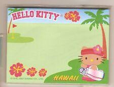 Sanrio Hello Kitty Sticky Notes Hawaii Golf #4