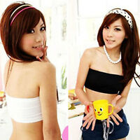 Sexy Women Bandeau Strapless Boob Tube Sports Bra Vest Crop Top Bra 2 Colors Hot