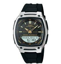 Casio AW81-1A2 Men's Resin Band Black Dial Analog Digital Telememo 30 Watch