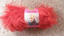 Lion Fun Fur   Long  Eyelash Yarn    RED    Furry NEW