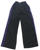 ADIDAS Women XS Activewear Track Pants 3 Stripe Black Purple