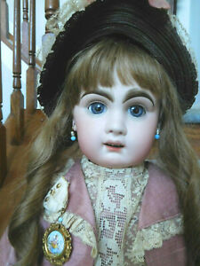 """Antique French 26"""" Tete Jumeau Bebe Bisque Red Stamp"""