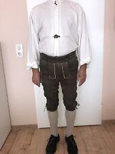 Lederhose(Bundlederhose) Herren Gr.50 Wildbock Mit Schuhe Hemd u.Socken