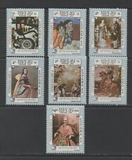 Thematic Stamps Art - LAOS 1984 ESPANA PAINTINGS 7v 733/9 mint