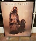 WILLIAM WEGMAN Whitney Museum Vintage Framed Dog Walker 1992 Poster 29 x 23.5