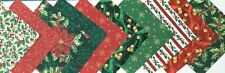 HALF CHARM PACK Christmas Memories Fabric Pack - 20 pieces 10 designs
