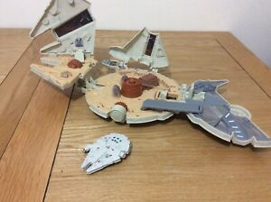 star wars micro machines millennium falcon 1990's Play set Plus Extra Ship