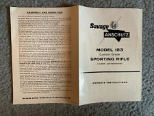 Savage Anschutz Model 153 Owner's Instructions