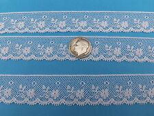 """French Heirloom Cotton Lace Edging 3/4"""" Wide/White/L2-883"""