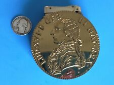 MYLFLAM GERMANY GAS LIGHTER FRENCH HUGE 1788 LOUIS XVI COIN TABLE NEW NOS MCM A-
