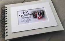 Personalised luxury scrapbook photo album guestbook Wedding anniversary present