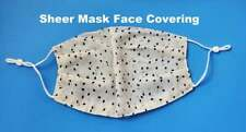 USA Beathable Polka Dot Chiffon Face Mask Covering Thin Sheer Reusable