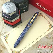 Esterbrook Estie Blueberry Gold Trim Fountain Pen Fine + FREE INK