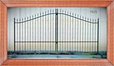 Inc Post Pkg Driveway Gate 11' or 12' Wd Steel Home Security Veterans Discount!