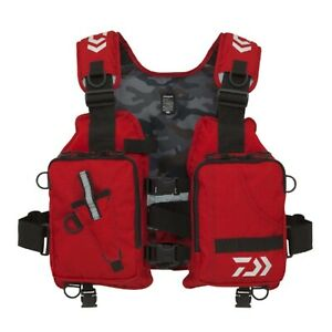 DAIWA LIGHT FLOAT GAME VEST DF-6406 BLACK RED GREEN F/S FROM JAPAN