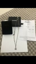 Genuine Chanel CC Pearl And Chain Necklace