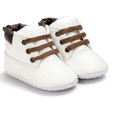 Baby Toddler Soft Sole Leather Shoes Infant Boy Girl Toddler Shoes White 12