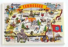 Greetings from Tennessee (Map) Fridge Magnet travel souvenir