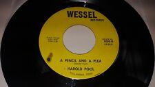 HAROLD POOL Jack Daniels / Pencil & A Plea Outlaw Hillbilly Private TN 45 Wessel