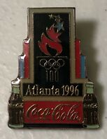 1996 Coca Cola 100 Years Olympic Torch Atlanta Olympics Sponsor Lapel Hat Pin