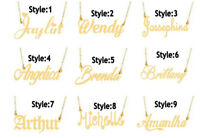 PERSONALIZED 14K GOLD PLATED NAME PLATE NECKLACE Any name Any Style Ship from US