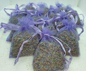 10 Lavender Bags Sachets, Favours, Fragrance, Scent, Moth Repellent, Pot Pourri