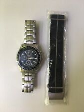Casio MTP-4500 Chronograph WR 50M Aviator Watch New Battery + Additional Strap