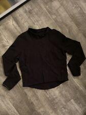 Lululemon Cropped Rulu Pullover Top Sz 8 Black