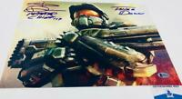 Steve Downes signed Master Chief 11X14 Metallic photo HALO BAS M62107