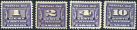 Canada #J11-J14 mint F-VF/VF OG NH/H/HR 1933-1934 Third Postage Due Issue Set