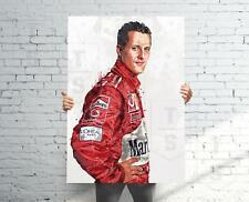 Michael Schumacher Ferrari F1 Poster, , Banner, Formula 1 Fan, Kids Wall Decor,