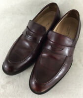 Johnston & Murphy Men's Burgundy Leather Dress Penny Loafers 20-6623 Size 11 M