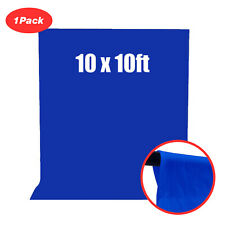 1Pack Blue Color 10x10 Photo Studio Backdrop Screen Simply dust off
