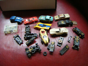 VINTAGE AURORA TJET  CHASSIS AND PARTS LOT HO SLOT CAR