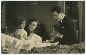 c 1930 Children Chld Kid DADDY giving DAUGHTER DOLL Girl photo postcard