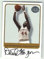 David Thompson 2001 Fleer Greats of the Game On Card Autograph NC State SP Rare