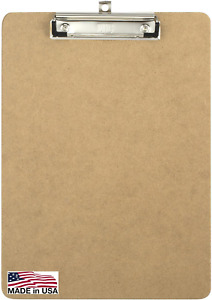 Officemate Recycled Wood Clipboard Letter Size Low Profile Clip 9 x 12.5 Inches
