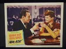 George Raft Sylvia Sidney Mr. Ace 1946 orig Lobby Card # 2 VG Film Noir