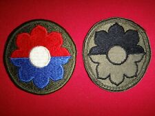 2 Vietnam War US 9th INFANTRY Division Color And Subdued Patches