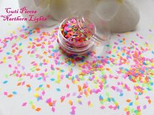 Nail Art Chunky *Northern Light* Neon Matt Diamond Shape Glitter Spangle Pot Mix